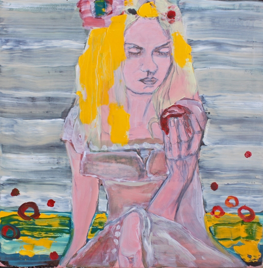Girl Observing her Hand