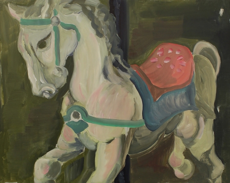 Pegasus, 2019, Oil on Board, 50 x 40cm